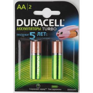 Duracell HR6-2BL 2400mAh/2500mAh предзаряженные (2/20/12000)
