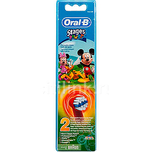 ORAL-B Наcадка EB10K Kids Stage Power 2 шт (3 дизайна) (12/3888)