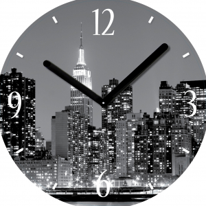 "Innova Часы W09672 ""Город"", круглые, стекло, диаметр 30 см (10/150)"
