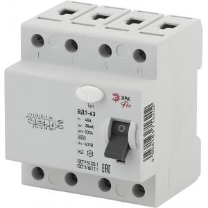 ЭРА Pro Устройство защитного отключения NO-902-39 УЗО ВД1-63 3P+N 40А 30мА (45/810)