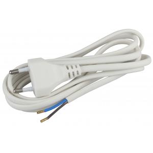 BR1(W) ЭРА Шнур для бра 2x0.75мм2 1,8м без выкл белый (20/100/2400)