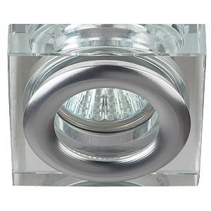 WR4 CH/SL Светильник ЭРА влагозащищенный MR16,12V/220V, 50W  хром/серебро (30/1260)