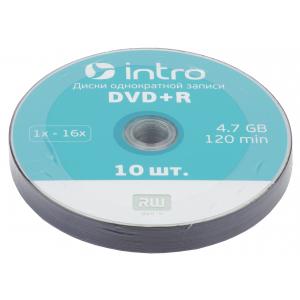 Intro DVD+R INTRO 16х 4,7GB  Shrink 10 (10/400/18000)
