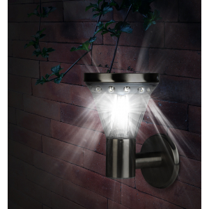 SL-SS23-FIX ЭРА Садовый светильник на солнечной батарее, сталь, стальной, 23 см (8/192)