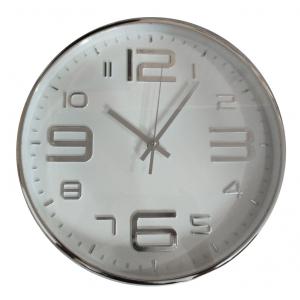 Innova Часы W09642, материал пластик, диаметр 30 см, цвет серебро/белый (8/144)