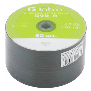 Intro DVD-R INTRO 16X 4,7GB  Cakebox 50 (50/300/14400)