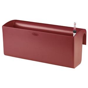 GPB1-01-R GREEN APPLE Балконный горшок с автополивом 50*20*22 красный (4/16)