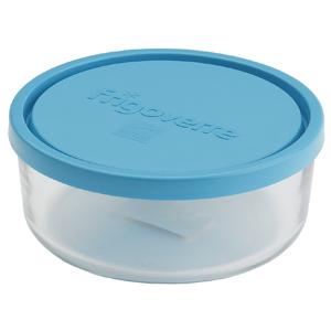 Bormioli Rocco Контейнер Frigoverre круглый d-12 см, 300 мл, с синей крышкой (12/576)