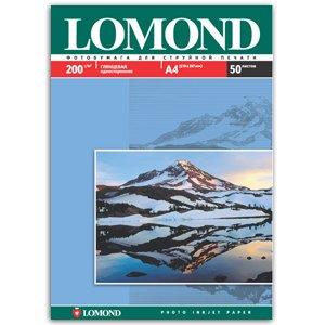 0102020 Lomond Бумага IJ А4 (глянц) 200г/м2 (50 л) (18/594)