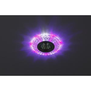 DK LD2 SL/WH+PU Светильник ЭРА декор cо светодиодной подсветкой( белый+фиолетовый), прозрачный (50/1