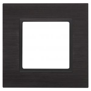 14-5201-05 ЭРА Рамка на 1 пост, металл, Эра Elegance, чёрный+антр (10/50/1500)