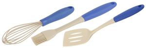 White Fox Набор для выпечки Elegance Indigo (кисть и венчик кулинарные, лопатка для жарки) (12/144)