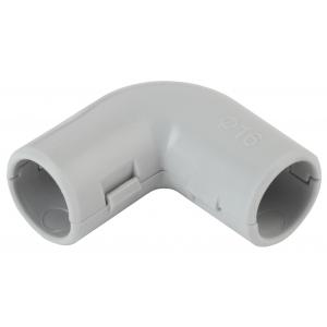 ЭРА Угол 90 гр.(серый) соединительный для трубы 16мм (10шт) (10/500/9000)