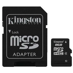 Kingston Micro SDHC 08 Gb Class 4 + adapt (25/1000)