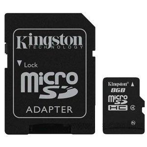 Kingston Micro SDHC 08 Gb Class 4 + adapt (25/1000)