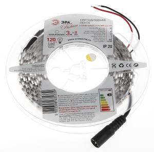 ЭРА Лента светодиодная LS3528-120LED-IP20-WW-eco-3m (80/1600)