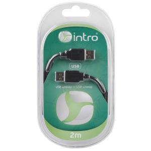 USB 2001101 Кабели СТМ Intro USB 2.0, штекер-штекер, длина-2м (20/40/800)