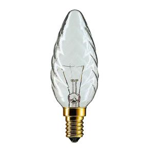 011657 Philips BW35 40W E14 230V витая свеча CL (5/20/3000)