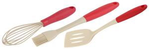 White Fox Набор для выпечки Elegance RED (кисть и венчик кулинарные, лопатка для жарки) (12/144)