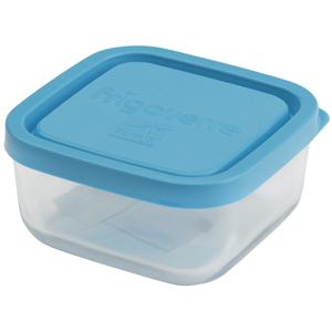 Bormioli Rocco Контейнер Frigoverre квадратный 10*10 см, 240 мл, с синей крышкой (12/768)