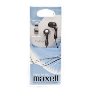 303455 Maxell Rhythmz Black (1/8),вкладыши канальные (8/48/1200)