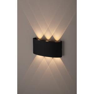 WL12 BK Подсветка ЭРА Декоративная подсветка светодиодная ЭРА 6*1Вт IP 54 черный (20/800)