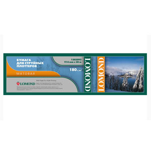 1202092 Lomond Ролик для плоттера 180 г/м2 матовая (914 x 30 x 50,8) (30)