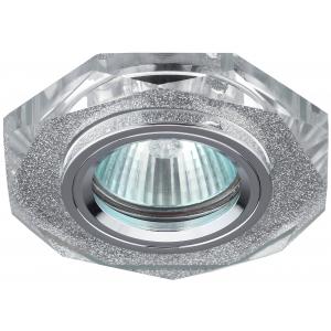 DK5 SH SL Светильник ЭРА декор стекло многогранник MR16,12V/220V, 50W, GU5,3 серебряный блеск серебр
