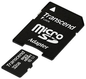 Transcend Micro SDHC 32 Gb Class 10 + adapt UHS-1 (1000)