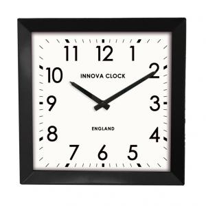 Innova Часы W09650, квадратные металлические, размер 29*29 см, цвет черный (12/144)