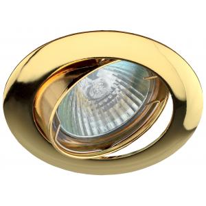 KL1A GD Светильник ЭРА литой простой пов. MR16,12V/220V, 50W золото (5/100/2100)