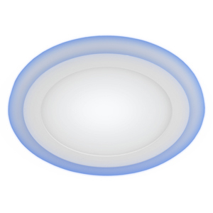 LED 3-9 BL Светильник ЭРА светодиодный круглый c cиней подсветкой LED 9W 220V 4000K (40/800)
