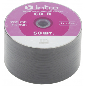 Intro СD-R INTRO 52X 700MB  Cakebox 50 (50/300/14400)