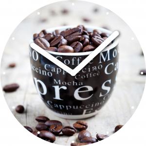"Innova Часы W09669 ""Зерна кофе"", круглые, стекло, диаметр 30 см (10/150)"