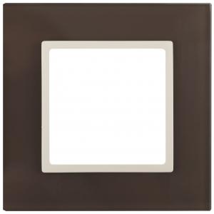 14-5101-31 ЭРА Рамка на 1 пост, стекло, Эра Elegance, мокко+сл.к (10/50/1800)