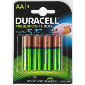 Duracell HR6-4BL 2400mAh/2500mAh предзаряженные (4/40/15000)