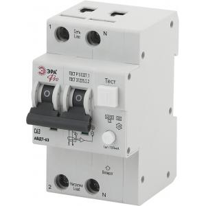 ЭРА Pro Автоматический выключатель дифференциального тока NO-901-97 АВДТ 63 C63 100мА 1P+N тип A (60