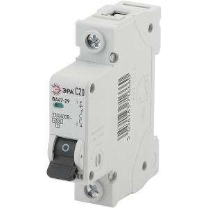ЭРА Автоматический выключатель NO-902-103 ВА47-29 1P 20А кривая C (12/180/3780)