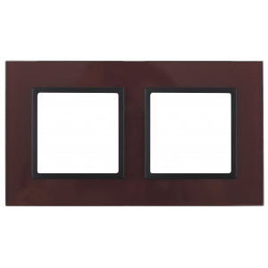 14-5102-25 ЭРА Рамка на 2 поста, стекло, Эра Elegance, бордо+антр (5/50/1200)