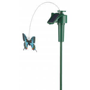 """SL-PL42-BTF ЭРА Садовый светильник на солнечной батарее """"Порхающая бабочка"""", пластик, цветной, 42 см"""
