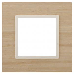 14-5301-11 ЭРА Рамка на 1 пост, дерево, Эра Elegance, клён+сл.кость (10/50/1800)
