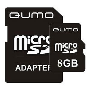 QUMO Micro SDHC 08 Gb Class 6 + adapt (1000)