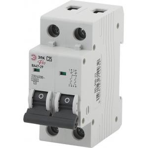 ЭРА Pro Автоматический выключатель NO-900-30 ВА47-29 2P 25А кривая C (6/90/1890)