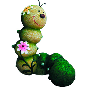 GA200-14 GREEN APPLE Фигурка садовая Гусеница 19.5*12.5*23см (6/72)