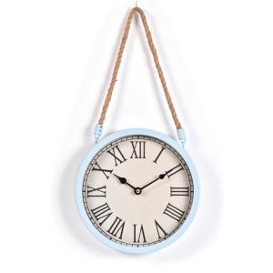 Innova Часы W08309, материал металл + крафт веревка, диаметр 22 см, цвет голубой (4/240)
