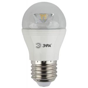 LED P45-7W-827-E27-Clear ЭРА (диод,шар,7Вт,тепл,E27) (6/60/2400)