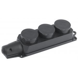 K-3e-IP44  ЭРА Колодка 3гн, c заземл., каучук, IP44 (4/40/640)