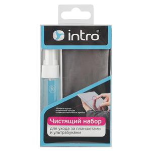 Intro Чистящий набор д/ ухода за планшетами и ультрабуками, Гель 30 мл.+ микрофибр.25*25 см (16/1440