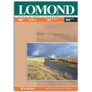 0102002 Lomond Бумага IJ А4 (мат) 100г/м2 (100 л) 2-х стор (15/495)