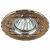 """KL40 SL/GD Светильник ЭРА литой  """"алюминевый """" MR16,12V/220V, 50W  золото/серебро (100/2100)"""